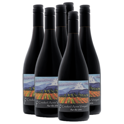 Crooked Acres Vineyard Pinot Noir 2016 Half-Case